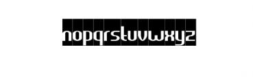 HEAVYwood Inverse.otf Font LOWERCASE