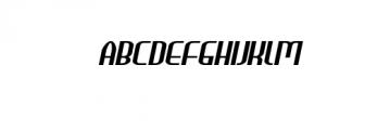 HEAVYwood Italic.otf Font UPPERCASE