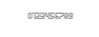 HEAVYwood outline.otf Font OTHER CHARS
