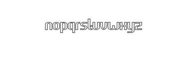 HEAVYwood outline.otf Font LOWERCASE