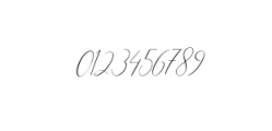 Heavenly Script Modern Calligraphy Font OTHER CHARS