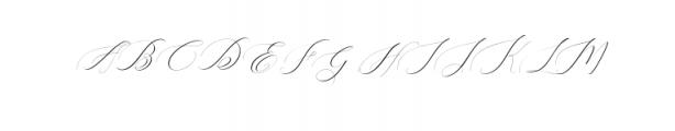 Heavenly Script Modern Calligraphy Font UPPERCASE