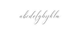 Heavenly Script Modern Calligraphy Font LOWERCASE