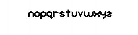 Hexagon Premium Font Font LOWERCASE