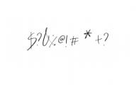 HeyFonallia-Handwritting.ttf Font OTHER CHARS