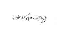 HeyFonallia-Handwritting.ttf Font LOWERCASE