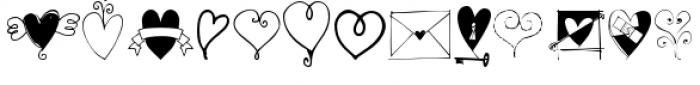 Heart Doodles Font UPPERCASE