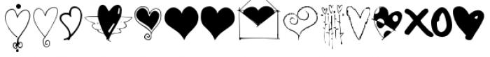 Heart Doodles Font LOWERCASE