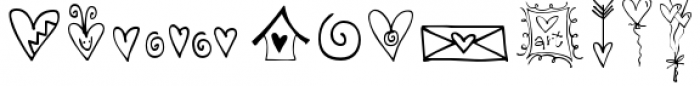 Hearts and Swirls Too Font UPPERCASE