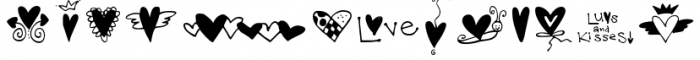 Hearts and Swirls Too Font LOWERCASE