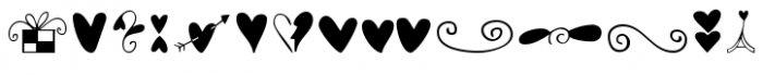 Hearts and Swirls Font UPPERCASE