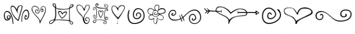 Hearts and Swirls Font LOWERCASE