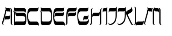 Hebrew Latino Plain Font UPPERCASE