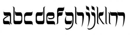 Hebrew Latino Plain Font LOWERCASE