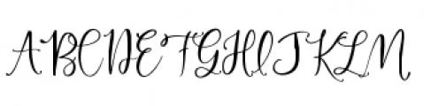 Hey Bombshell Script Font UPPERCASE