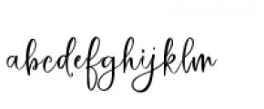 Hey Bombshell Script Font LOWERCASE