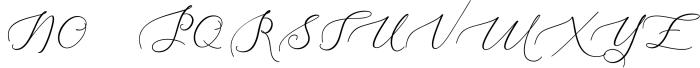 Heavenly Script 2 Font UPPERCASE