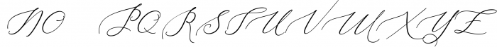 Heavenly Script 3 Font UPPERCASE
