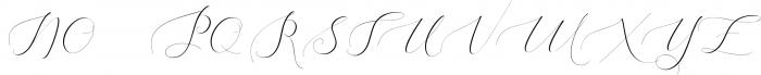 Heavenly Script Font UPPERCASE