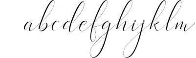 Heavenly Script Font LOWERCASE