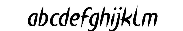 HEART SHAPED Bold Italic Font LOWERCASE