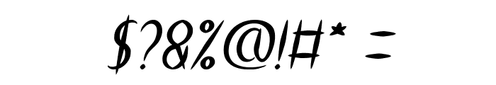 HEART SHAPED Italic Font OTHER CHARS