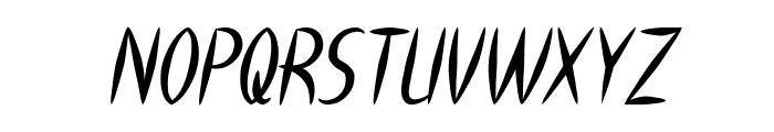 HEART SHAPED Italic Font UPPERCASE