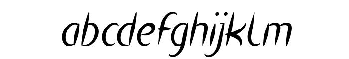 HEART SHAPED Italic Font LOWERCASE
