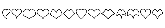 HEART shapes Font LOWERCASE