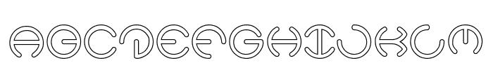 HEATHER THOMAS-Hollow Font UPPERCASE