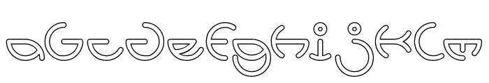HEATHER THOMAS-Hollow Font LOWERCASE