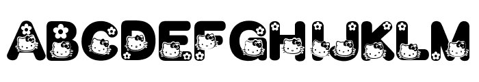 HELLO KITTY FONT Font UPPERCASE