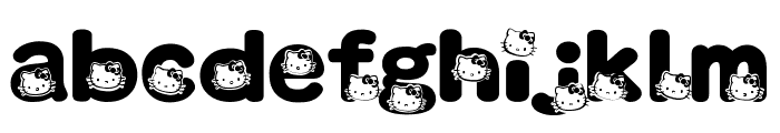 HELLO KITTY FONT Font LOWERCASE