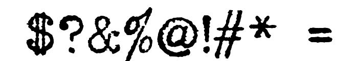 HERMES 1943 Font OTHER CHARS