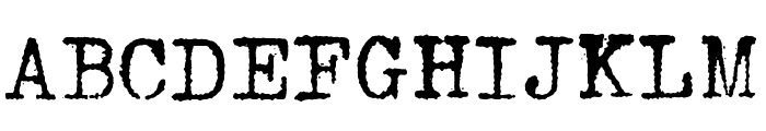 HERMES 1943 Font UPPERCASE