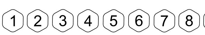 HEX Font Regular Font OTHER CHARS