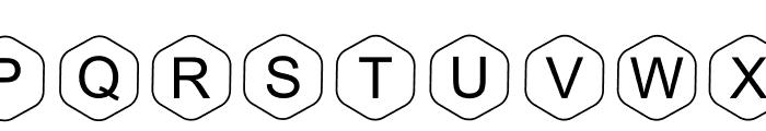 HEX Font Regular Font UPPERCASE