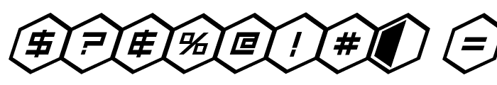 HEX:gon Bold Italic Font OTHER CHARS