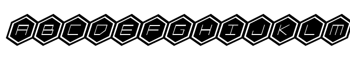 HEX:gon Bold Italic Font UPPERCASE