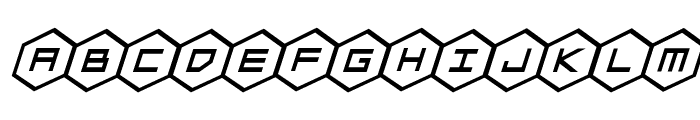 HEX:gon Bold Italic Font LOWERCASE
