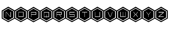 HEX:gon Bold Font UPPERCASE
