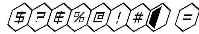 HEX:gon Condensed Italic Font OTHER CHARS