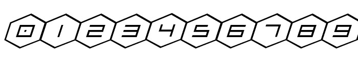 HEX:gon Expanded Italic Font OTHER CHARS