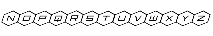 HEX:gon Expanded Italic Font LOWERCASE