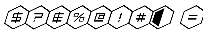 HEX:gon Italic Font OTHER CHARS