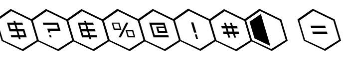HEX:gon Leftalic Font OTHER CHARS