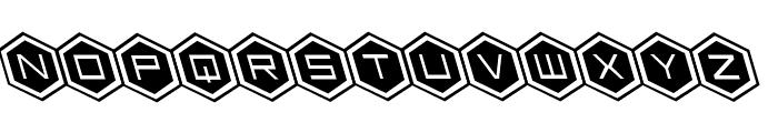 HEX:gon Leftalic Font UPPERCASE