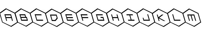 HEX:gon Leftalic Font LOWERCASE