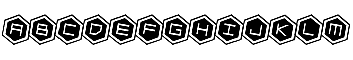 HEX:gon Rotated 2 Font UPPERCASE
