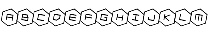 HEX:gon Rotated 2 Font LOWERCASE